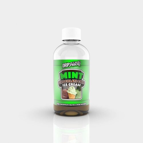 Drip Hacks Mint Chocolate Chip Ice Cream 250ml Hackshot