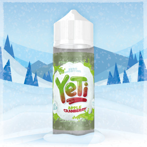 Yeti Apple Cranberry 100ml / 120ml Shortfill Liquid